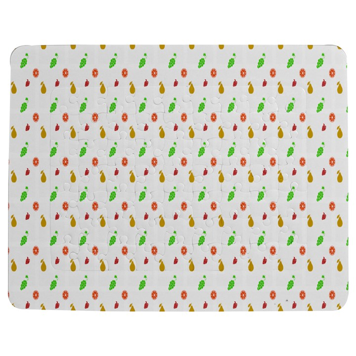 Fruit Pattern Vector Background Jigsaw Puzzle Photo Stand (Rectangular)