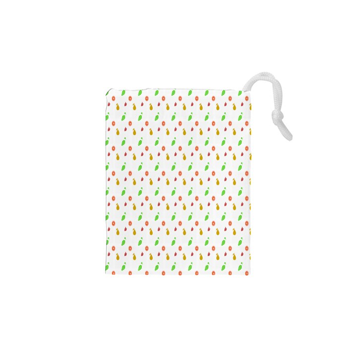 Fruit Pattern Vector Background Drawstring Pouches (XS)