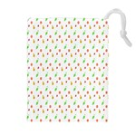 Fruit Pattern Vector Background Drawstring Pouches (Extra Large) Front