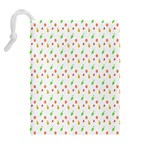 Fruit Pattern Vector Background Drawstring Pouches (Extra Large) Back