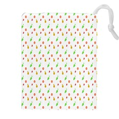 Fruit Pattern Vector Background Drawstring Pouches (XXL)