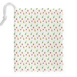Fruit Pattern Vector Background Drawstring Pouches (XXL) Back