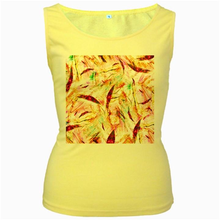 Grass Blades Women s Yellow Tank Top