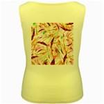 Grass Blades Women s Yellow Tank Top Back