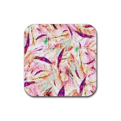 Grass Blades Rubber Coaster (Square)