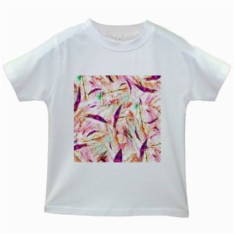 Grass Blades Kids White T-Shirts
