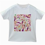 Grass Blades Kids White T-Shirts Front
