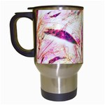 Grass Blades Travel Mugs (White) Left