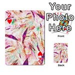 Grass Blades Playing Cards 54 Designs  Front - Heart2