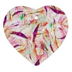 Grass Blades Heart Ornament (2 Sides)