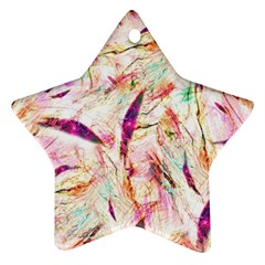 Grass Blades Star Ornament (Two Sides)