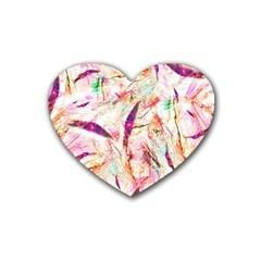 Grass Blades Rubber Coaster (Heart)