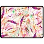 Grass Blades Double Sided Fleece Blanket (Large)  80 x60 Blanket Front