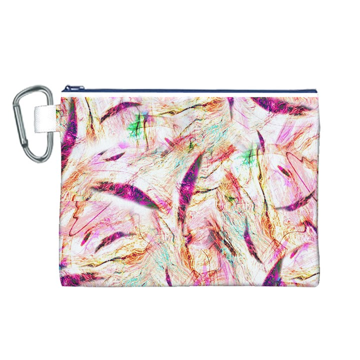 Grass Blades Canvas Cosmetic Bag (L)