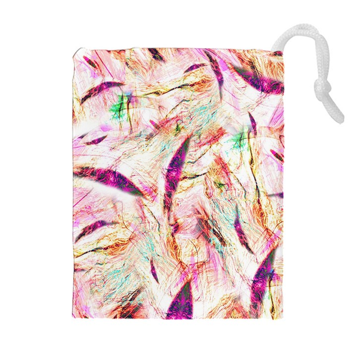 Grass Blades Drawstring Pouches (Extra Large)