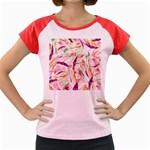 Grass Blades Women s Cap Sleeve T-Shirt Front