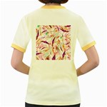 Grass Blades Women s Fitted Ringer T-Shirts Back
