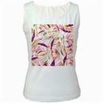 Grass Blades Women s White Tank Top Front