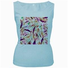 Grass Blades Women s Baby Blue Tank Top