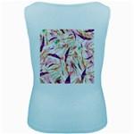 Grass Blades Women s Baby Blue Tank Top Back