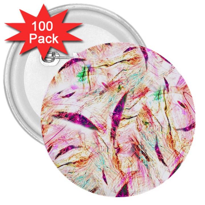 Grass Blades 3  Buttons (100 pack)