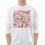 Grass Blades White Long Sleeve T-Shirts Front