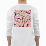 Grass Blades White Long Sleeve T-Shirts Back