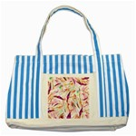 Grass Blades Striped Blue Tote Bag Front