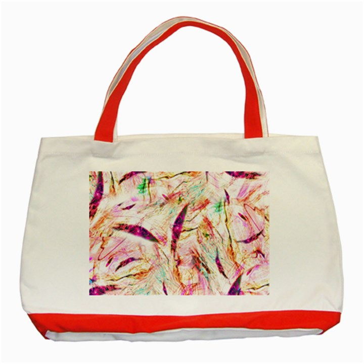Grass Blades Classic Tote Bag (Red)