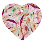 Grass Blades Heart Ornament (2 Sides) Front