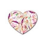 Grass Blades Heart Coaster (4 pack)  Front