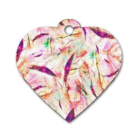 Grass Blades Dog Tag Heart (One Side)