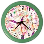 Grass Blades Color Wall Clocks Front