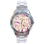 Grass Blades Stainless Steel Analogue Watch Front