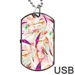 Grass Blades Dog Tag USB Flash (Two Sides)  Front