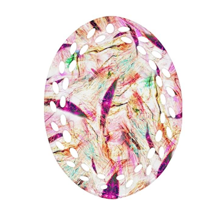 Grass Blades Ornament (Oval Filigree)