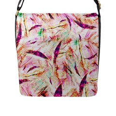 Grass Blades Flap Messenger Bag (L)