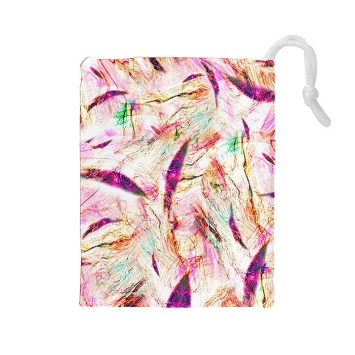 Grass Blades Drawstring Pouches (Large)