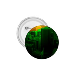 Green Building City Night 1.75  Buttons