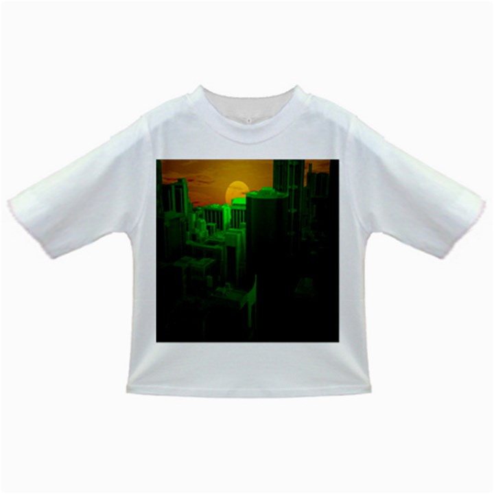Green Building City Night Infant/Toddler T-Shirts