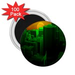 Green Building City Night 2.25  Magnets (100 pack)  Front