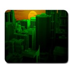 Green Building City Night Large Mousepads Front
