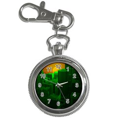 Green Building City Night Key Chain Watches