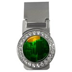 Green Building City Night Money Clips (CZ)  Front