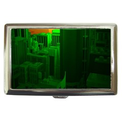 Green Building City Night Cigarette Money Cases