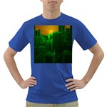 Green Building City Night Dark T-Shirt Front