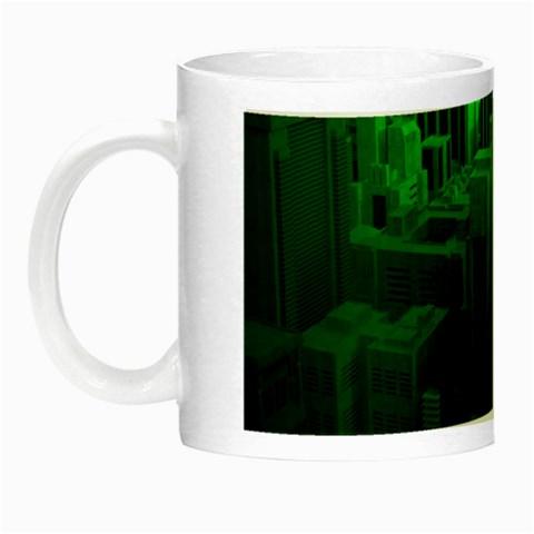 Green Building City Night Night Luminous Mugs