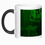 Green Building City Night Morph Mugs Left