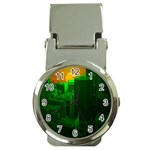 Green Building City Night Money Clip Watches Front