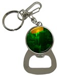Green Building City Night Bottle Opener Key Chains Front